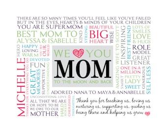 Personalized Mom Word Art * * Digital Image * * DIY Printable * *
