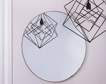 60cm Diameter Circular Wall Mirror