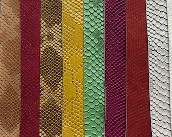 vinyl faux Fake leather Snake Viper Embossed fabric sold by the yard free shipping