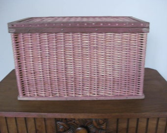 Vintage French wicker basket.