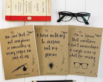 Oscar Wilde Quote A5 Notebook - Kraft Notebook - Stationery for Book Lovers - Teacher Gift - Book Lover Journal