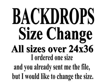 Add On - Size Change Backdrops