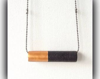 Minimalist Black & Gold Contemporary Bar Necklace Gift Boxed Christmas Birthday Gift Woman Girlfriend Friend Teen Daughter Mother