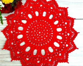 Red  doily