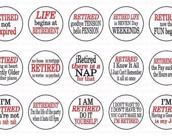 Retirement Sayings Bottle Cap Images 4x6 Bottlecap Collage Scrapbooking Jewelry Hairbow Center
