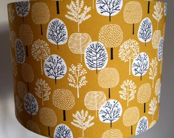 Golden trees table lampshade