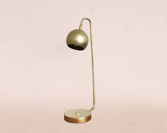 Modern brass lamp • Quiet Sid • Task lamp •  Mid century Modern lighting • Brass Scandinavian LED lamp • Desk Lamp • Table Lamp