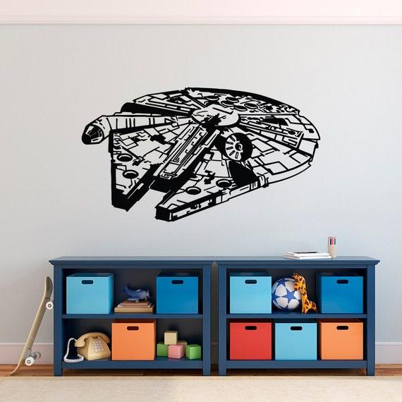 & Millennium Falcon Wall Decal Star Wars Decal Wall Decal Star