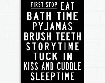 Bedtime Bus Roll Poster