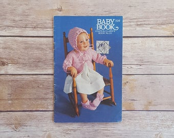 Baby Book Infant Crocheting Projects Baby Book By Coats And Clarks 251 Cute Children's Knitting Gifts Girls Vintage Knitted Baby Outfits