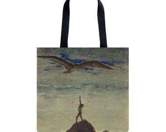 Tote bag Shopping bag Shopping tote Martket bag Handbag Shoulder bag Sagittarius present Ciurlionis art