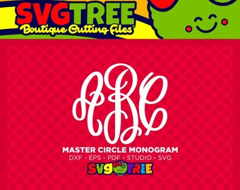 Master Circle SVG Master Circle Fancy Circle Monogram Commercial Free Cricut Files Silhouette Files Digital Cut Files svg cuts