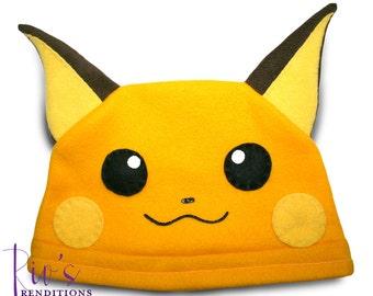 Pokemon Raichu Hat / Fleece Hat / Winter Hat / Pokemon Hat / Pokemon Fleece Hat / Video Game Characters