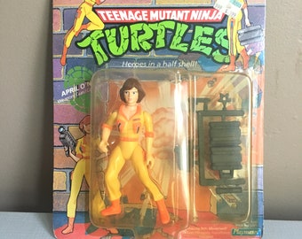 Sealed Vintage Ninja Turtle Action figure 1980s April O'Neil