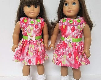 """Spring Dress with for any 18"""" doll like the American Girl"""