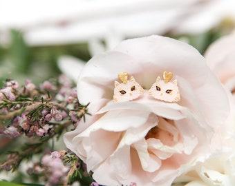 Earrings : Whiskers on Kittens (Blush)