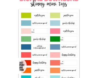 Gift Tags, Happy Birthday Tags, You're the Best, Just For You, Favor Tags, Someone Special, Thank You Tags, Birthday Tag, Gift Tag Printable