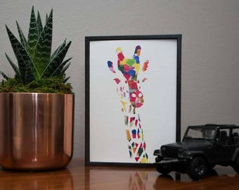 Watercolor Giraffe Print