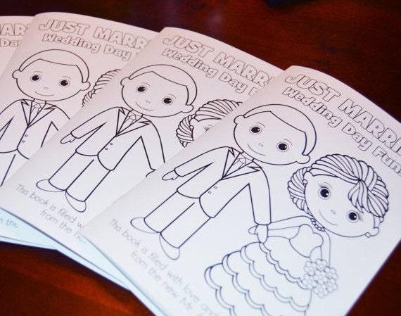 Hochzeit die Färbung Aktivität Buch druckbare personalisierte