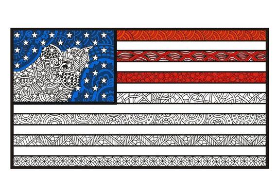 Amerikanische Flagge Malvorlagen Erwachsene Malvorlagen