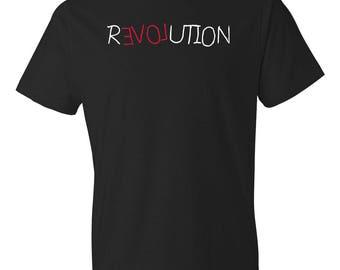 Revolution Love Shirt - Love Revolution Shirt - Hippy Shirt - Resist Shirt - Protest Shirt - Political Shirt - Feminist Shirt - Rights Shirt