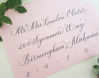 Wedding Invitation Calligraphy, Wedding Envelopes, Calligraphy Envelopes, Hand Calligraphy, Wedding Invitations