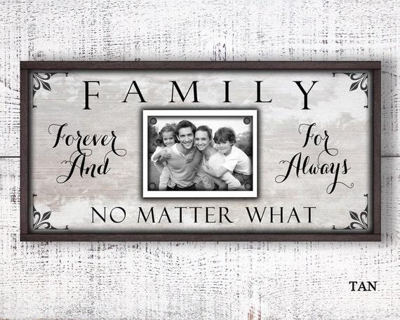 12 x 24 cuadro marco de la familia para siempre para siempre