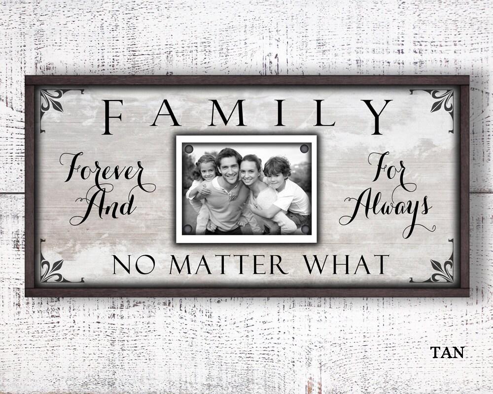12 x 24 cuadro marco, de la familia para siempre para siempre, foto ...