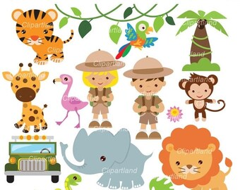ON SALE INSTANT Download. Safari clip art. Csaf_12. Personal and commercial use.