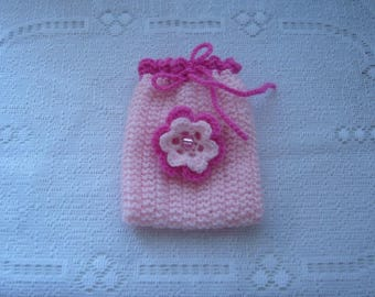 Clutch, pouch, bag wool rose to give your creations with charm