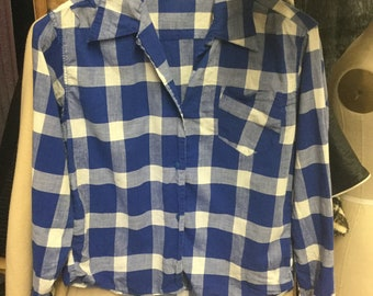 1950's Checkered Blue and White