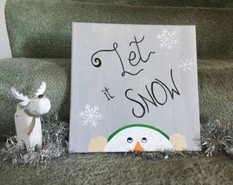 Let it Snow Canvas Painting