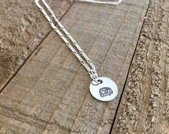 "VW necklace-VW bus necklace-1/2"" VW necklace-handstamped necklace-gift-necklace"