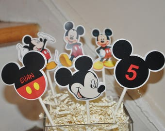Mickey Mouse Cupcake Toppers set of 12