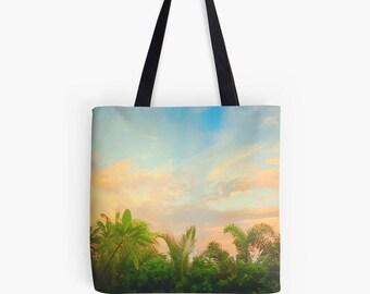 Pilbara Tote Bag, Outback Tropical Garden Tote, Pilbara Photography Tote, Sunset Sky Shoulder Bag, Palms Beach Bag, Pilbara Giftwares, Bag