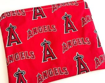 Angels Zipper Pouch, Zipper Pouch, Pencil Bag, Large Zipper Bag, Cosmetic Bag, LA Angels, Baseball Pouch