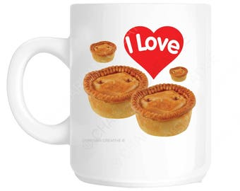 I Love Pies Novelty Fun Mug CH103