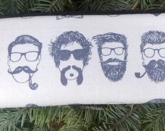 Hipster padded zippered glasses case with d-ring, The Spex