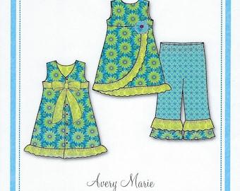 Bonnie Blue Pattern #148 / AVERY MARIE / Sizes 2 yr - 8 yr