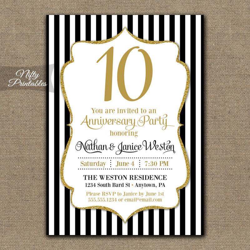 printable anniversary party invitations