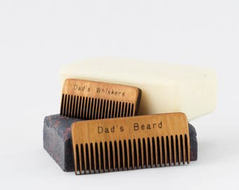 Dad's Beard Comb - Beard Comb - Mustache Comb - New Dad - Gift for Dad - Gift for Him - Natural Beard Care