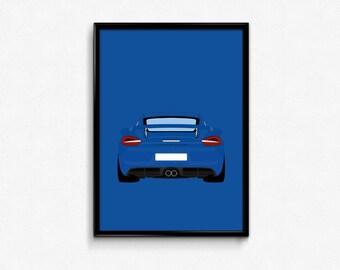 Porsche Cayman GT4 A3 Print
