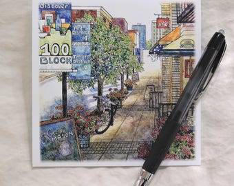 Knoxville Cityscape Set of 9 Blank Note Cards