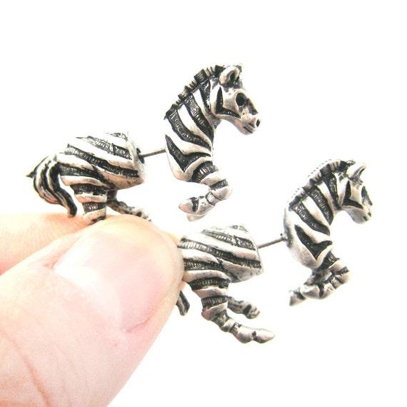boucle d'oreilles zebre
