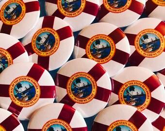 Florida State Flag Pinback Button, Magnet, Badge, Florida Flag Button, Florida gift, Miami Pin, Souvenir Gift, Florida Keychain, Orlando Pin