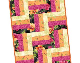 "Paradise 12 Block Rail Fence Precut Quilt Kit designed Debbie Beaves for Maywood Studio, 24"" x 32"" when finished"