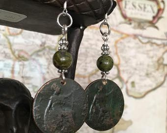 Antique George V Coin Earrings