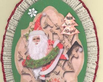 Santa Whimsical Christmas Ornament #2