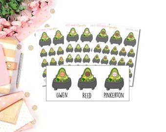 Guacamole AvoBabes Planner Stickers, Avocado Planner Stickers, Guacamole Stickers, Guac Stickers, Guacamole Stickers, Guac, Avocado Stickers