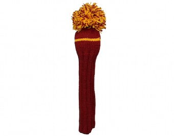 Maroon and Yellow Driver Headcover
